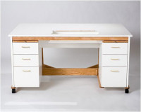 Double Pedestal Sewing Cabinet - Product Image